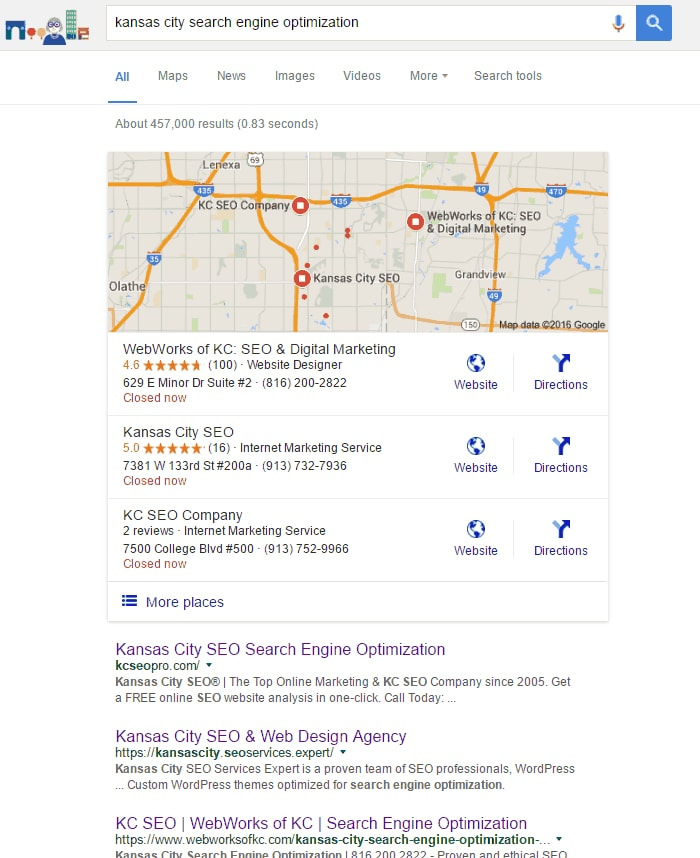 google my business reviews boost organic and local search rankings